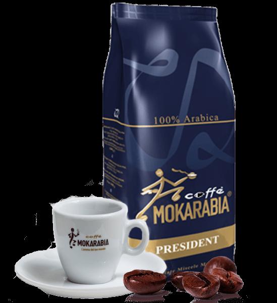 Mokarabia President Kaffee Espresso 1kg Bohnen