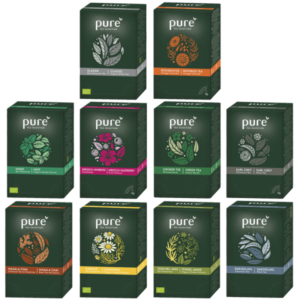 Tchibo Pure Tee Tea Selection 10 verschiedene Sorten