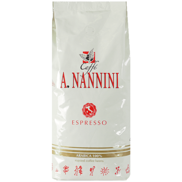 Nannini Arabica - Kaffee Espresso, 1 kg ganze Bohnen