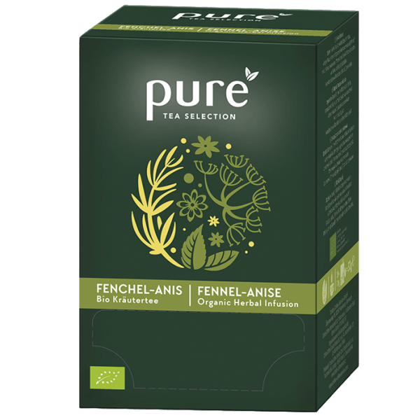 Pure Tee Tea Selection Bio Kräutertee Fenchel - Anis