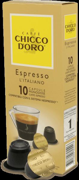 Chicco dOro Espresso Italiano - Nespresso® kompatibel - 10 Kapseln