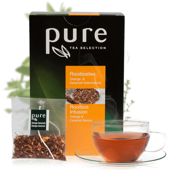 Tchibo Pure Tea Selection Rooibos Orange & Karamell 25 Beutel
