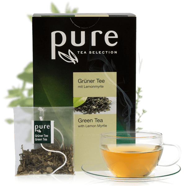 Tchibo Pure Tea Selection Grüner Tee mit Lemonmyrte 25 Beutel