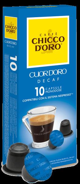 Chicco dOro CuorDoro Decaf - 10 Kapseln Nespresso® kompatibel
