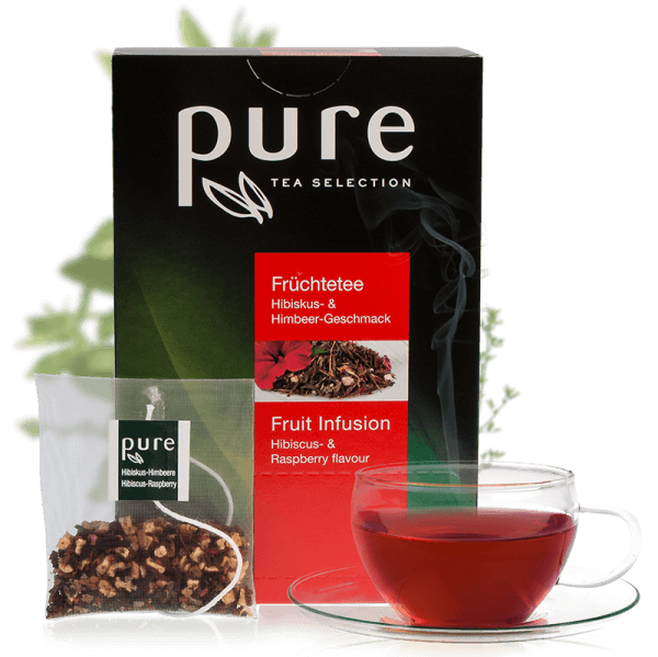 Tchibo Pure Tea Selection Früchtetee Hibiskus & Himbeere 25 Beutel